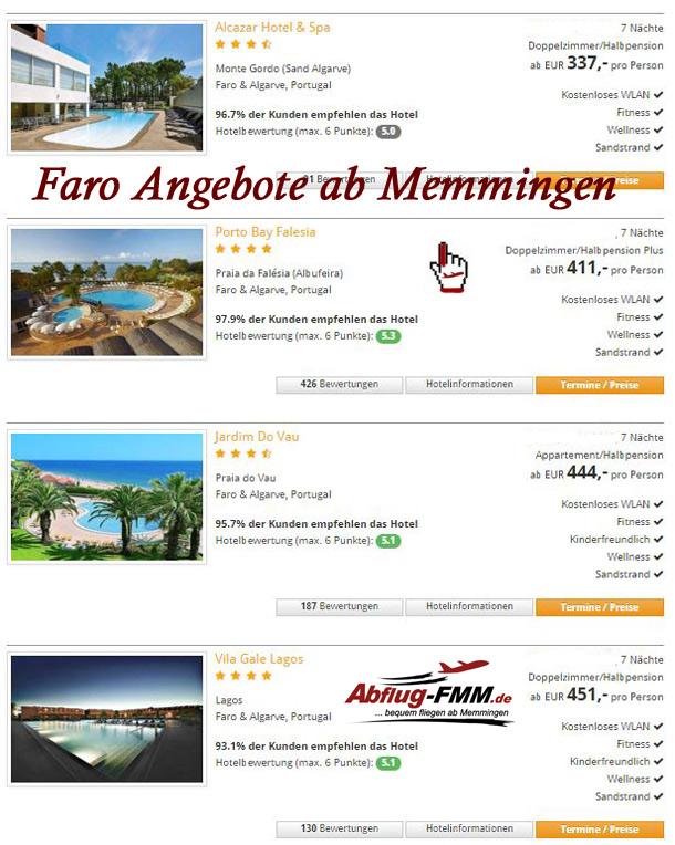 Faro Portugal Angebote ab Memmingen Airport