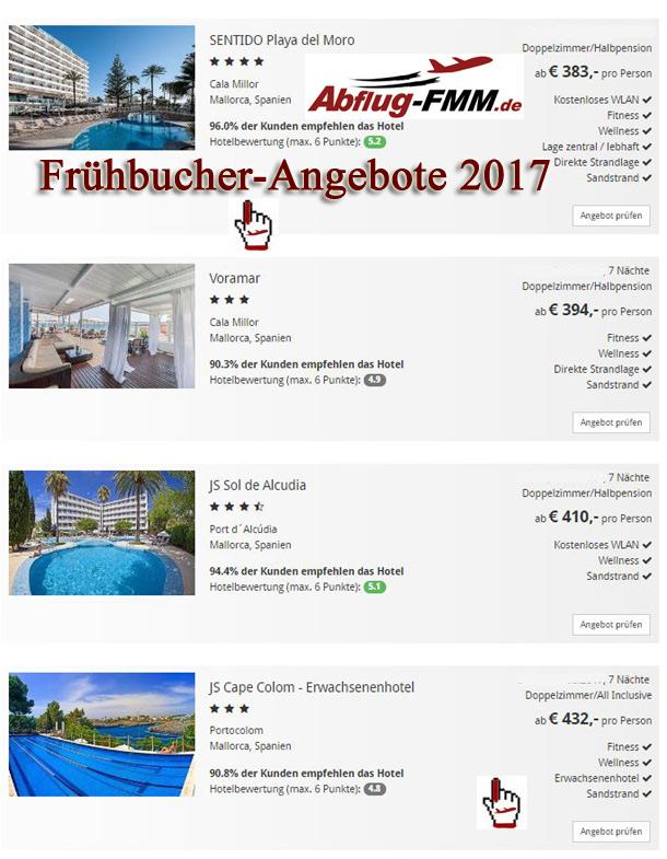Frühbucher Angebote ab Memminger Airport