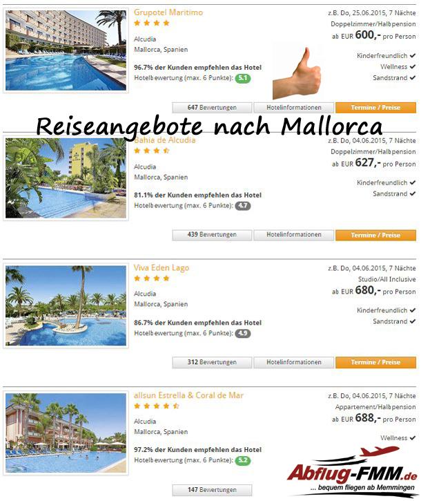 Mallorca Angebote ab Memmingen