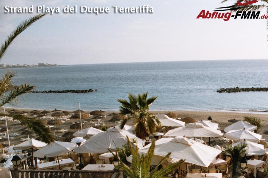 Strand Playa del Duque Teneriffa Winterflugplan Memmingen