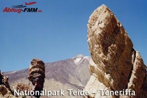 Nationalpark Teneriffa mit Blick auf den Vulkanberg Teide