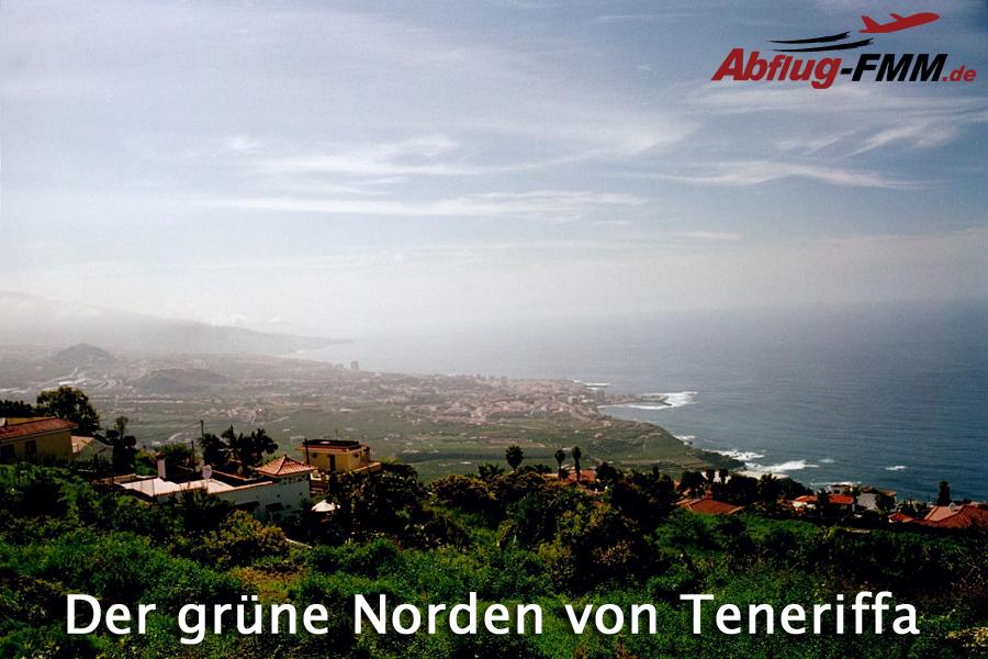 Kreuzfahrten ab Flughafen Memmingen. Der grüne Norden von Teneriffa.