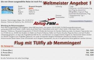 Weltmeister Angebote 1 ab Flughafen Memmingen nach Mallorca