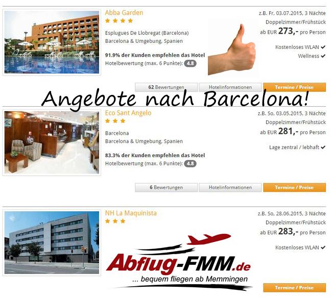 Angebote Barcelona ab Memmingen