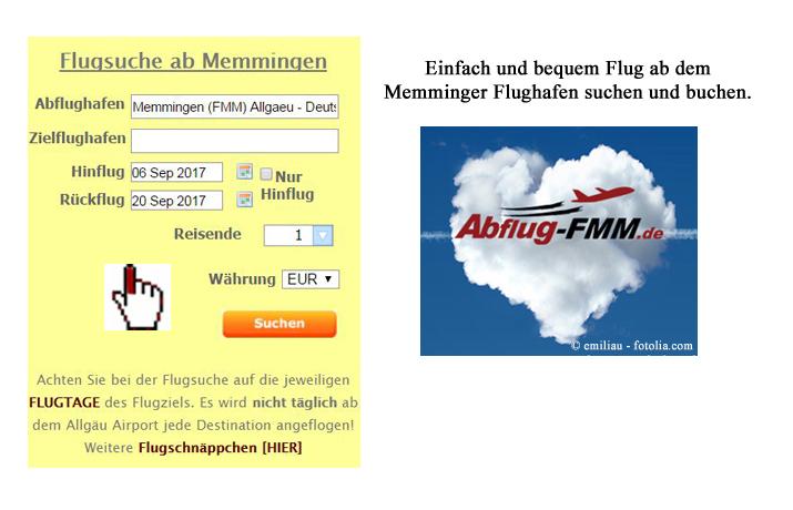 Flugsuche ab dem Memmingen Airport einfach und schnell Ryanair und WizzAir suchen und buchen