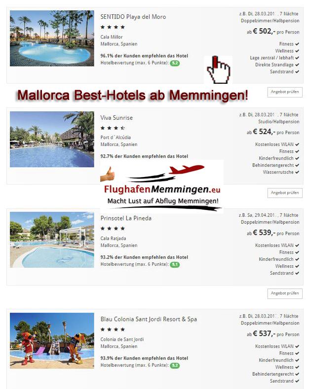 Auswahl Mallorcas Besthotels ab Memmingen