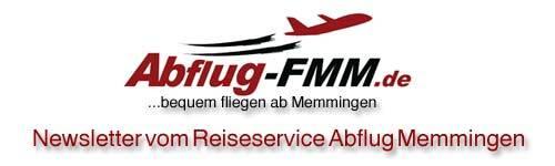 Newsletter Reiseservice Abflug Memmingen