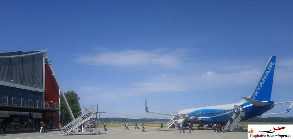 Ryanair am Memminger Flughafen