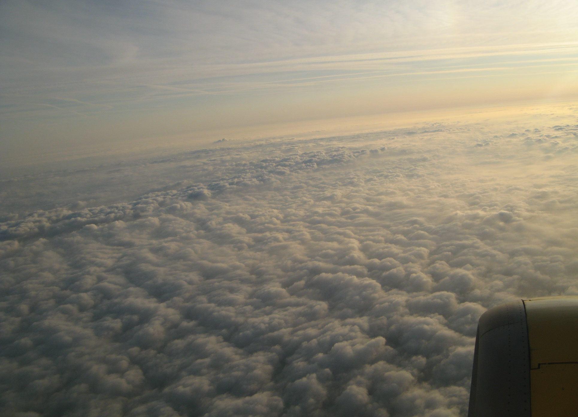 Wolken Flughafen Memmingen